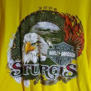 Harley Davidson t shirt Sturgis Rally 2008 A+